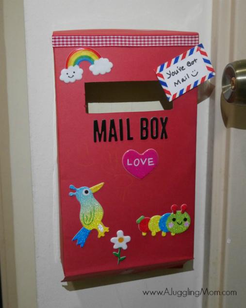 DIY Cereal Box mailbox 10